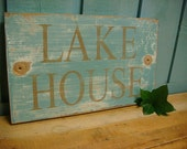Lake House Sign Wall Decor Beach Lake Cottage Cabin Country
