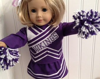 Design your own or pick your team American Girl Doll Cheerleader Outfit