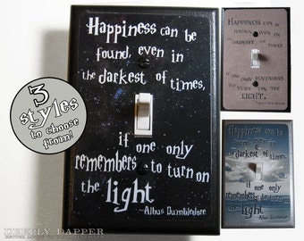 Happiness Can Be Found Quote Jumbo Light Switch Plate Magical Words Of Wisdom