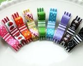 Piper - Set of 9 rainbow hair clips