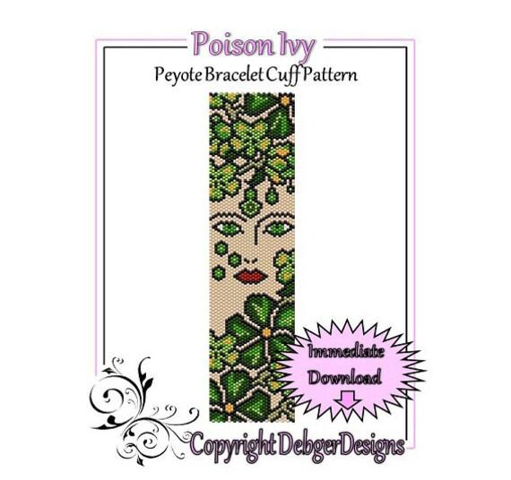 Bead Pattern Peyote(Bracelet Cuff)-Poison Ivy
