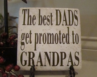 Father's Day- Birthday-Christmas- Grandpa- Grandad- Dad tile with vinyl lettering