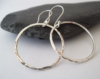 HooPiTy Doo... LaRgE STeRLiNg SiLVeR HooP EaRRiNgS