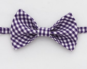 Purple Gingham Bow tie - Infant, Toddler, Boys