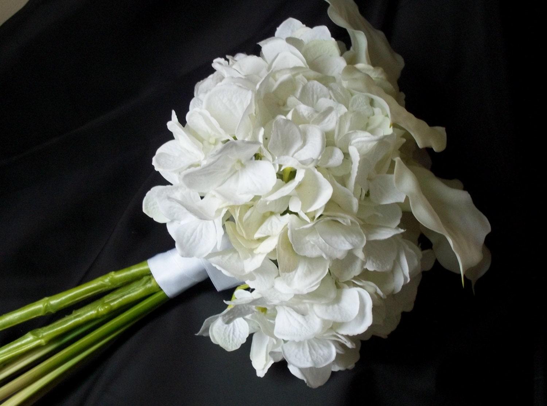 Bridal Bouquets Calla Lilies And Hydrangeas : White hydrangea and calla lily bridal by shannonkristina