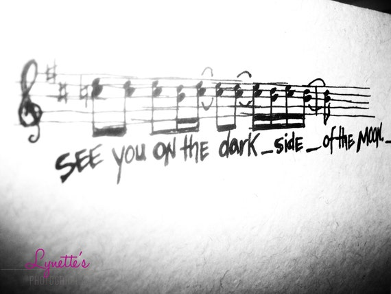 Pink Floyd Tattoo Duhh: Items Similar To See YOU On The Dark Side On Etsy