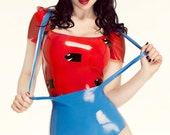 Rubber Latex Super Mario Inspired Cosplay Costume
