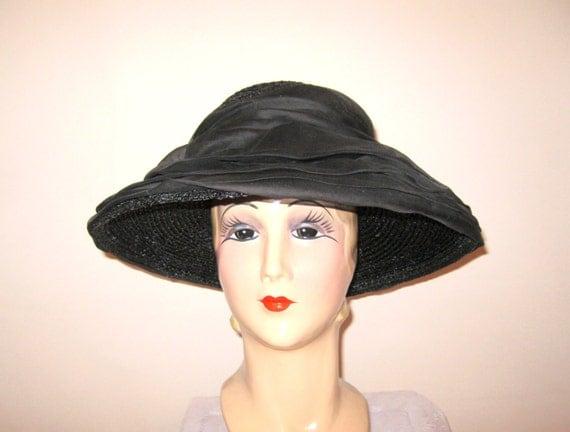 Vintage 1960s Hat / Oleg Cassini /Black by ...