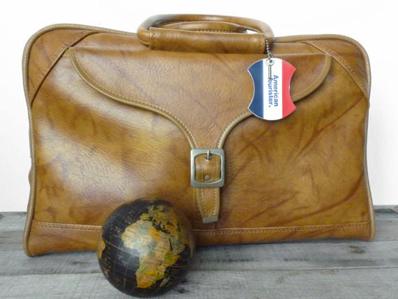 Reserved for Geir Ask-Henriksen / SALE 20% OFF / Vintage Brown / Camel / Tan / American Tourister Weekend / Carry On