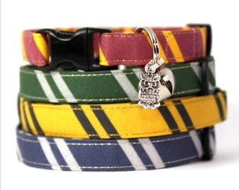 Wizard Breakaway Cat Collar with Owl Charm