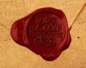Wax Seal Stamp Vintage Dripping Wax Seal Stamp Set  - Love