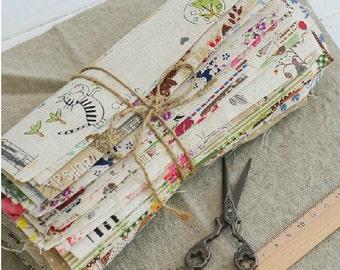 "10 Pieces Cotton Linen Fabric Cloth -DIY Cloth Art Manual Cloth Set 8 x8Inches "" Each (20 x 20CM)"