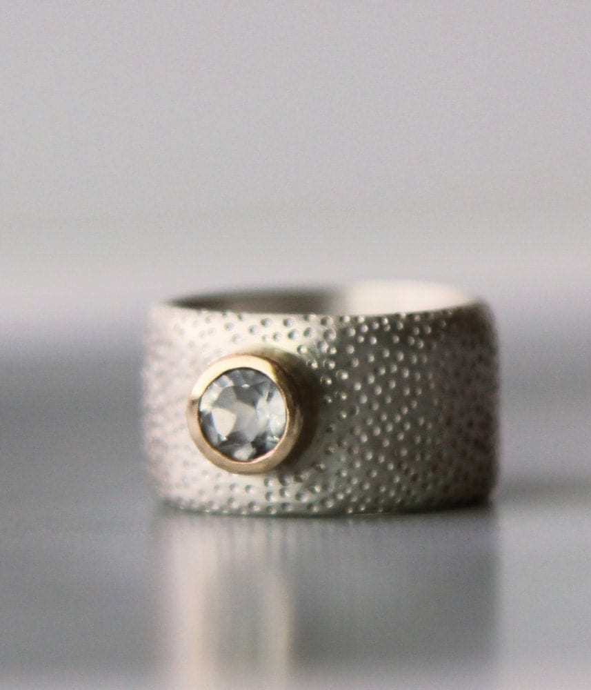 engagement ring unique wide wedding band alternative by lolide. Black Bedroom Furniture Sets. Home Design Ideas