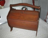 Wooden Sewing Box - Vintage - Adorable