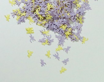 Dragonfly Confetti Yellow Lavender Purple 450 Pieces