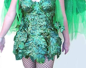 Green Fairy Nymph Dress w/Mask Custom made