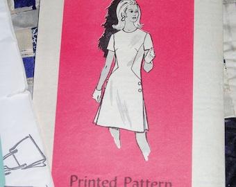 1960s Vintage Anne Adams Pattern 4794 for Women's Dress Size 14, Bust 36, Factory Folds