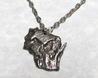Wisconsin State Geological Land Scape Pendant
