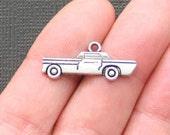6 Car Charms Antique  Silver Tone - SC105