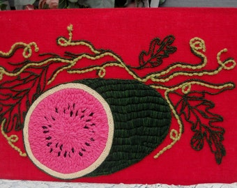 Vintage Watermelon - Embrodiery