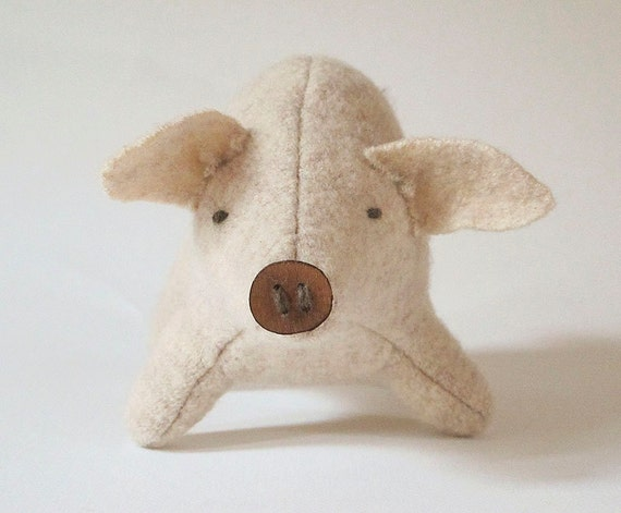 Sweet Critter Pig, an Eco Friendly Stuffed Friend