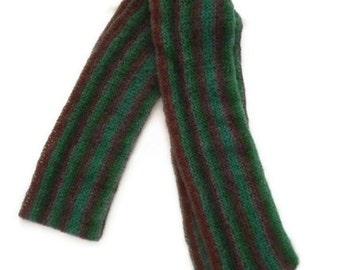 Knit Striped Scarf,  Knit Fall Scarf, Lightweight Scarf