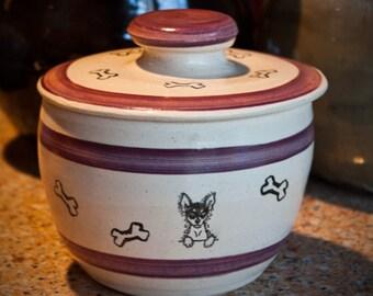 Rat Terrier - Treat Jar in Berry (Small)