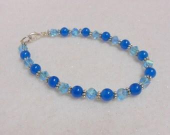 Apatite Gemstone Bracelet Blue Bracelet Aqua Bracelet