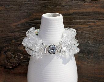 Crystal quartz bracelet, natural quartz bracelet