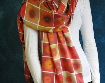SALE Sunspots Silk Charmeuse Scarf
