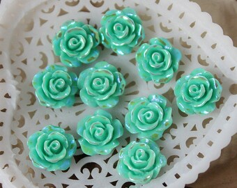 8 pcs Unique and Special Crafts Beautiful  Colorful   Flower Resin Cabochon -10mm -(CAB-AXA-14)
