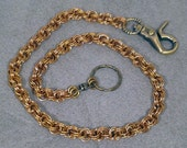 Bronze Double Spiral Chainmaille Wallet Chain