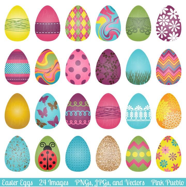 Easter Eggs Clipart Clip Art By PinkPueblo