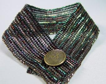 Bone the Herring Bead Woven Herringbone  Bracelet