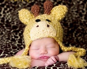 Baby Hats - Giraffe Baby Hat -Baby Giraffe  Hats - Halloween Costume - Baby Costume Hat - by JoJosBootique