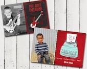5 Cute Boy theme Valentine cards - Custom photo Printable