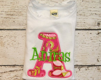 Personalized Initial Shirt or body suit