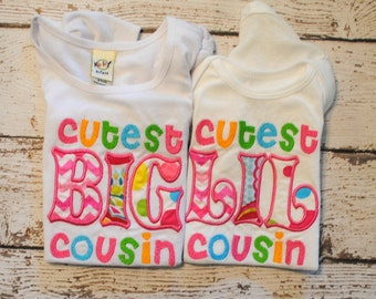 Cutest Big or Lil Cousin Shirt or Body Suit