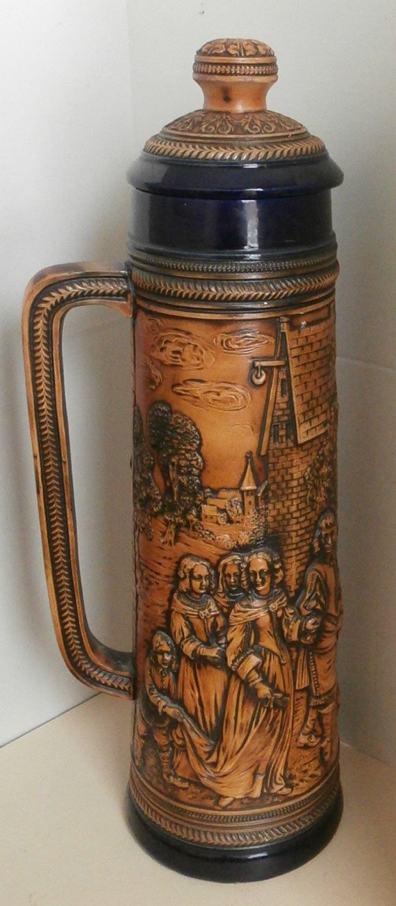 huge gerz 5 liter german beer stein circa 1950s. Black Bedroom Furniture Sets. Home Design Ideas