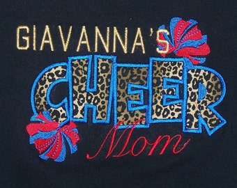 Cheer Mom Shirt Personalized Cheer Mom shirt