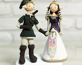 Custom Cake Topper -Link and Princess Zelda from The Legend of Zelda-
