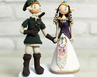 Custom Cake Topper -Link and Princess Zelda from The Legend of Zelda-