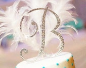 Dazzling monogram cake toppers