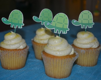 Turtle Cupcake Toppers