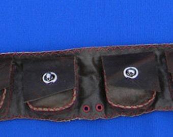Leather utility belt - Burning Man - Leather belt pouch