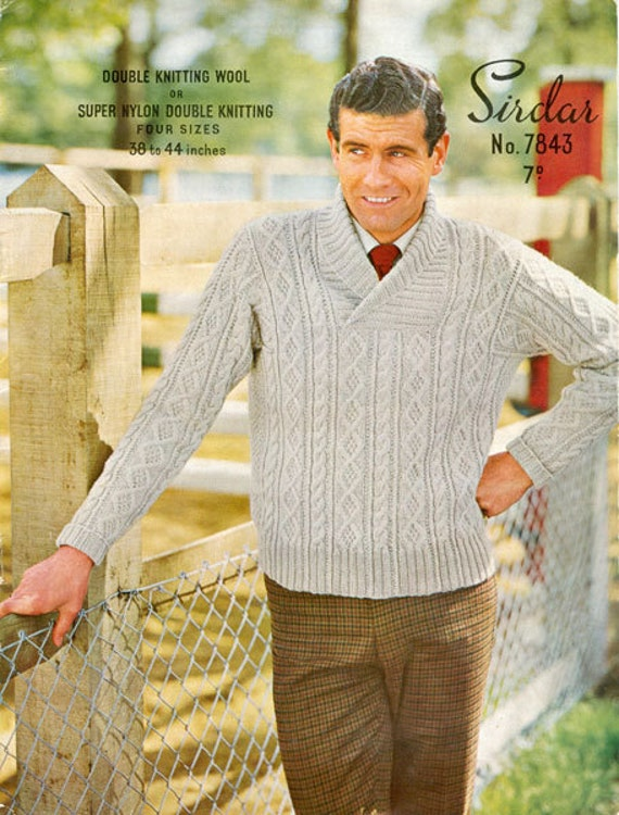 Free Sirdar Knitting Patterns To Download : Sirdar 7843 Vintage Knitting Pattern Mans by vintagemadamedefarge