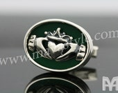 Sterling Silver Irish Claddagh Cufflinks