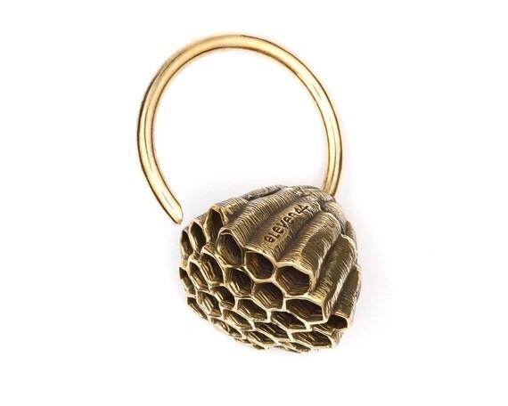 Honeycomb Earrings - Gauged Earrings - Ear Weights