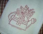 Fancy Flower Watering Can Embroidery Pattern