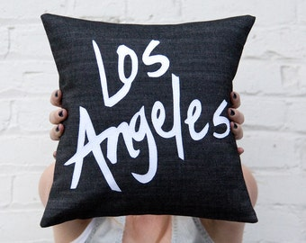 Los Angeles Pillow, Black and White